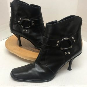 Harley Davidson Heeled Studded Leather Booties
